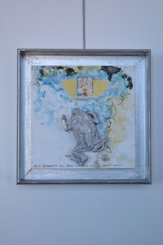 Mixed media wandobject Alla Madonna 2000