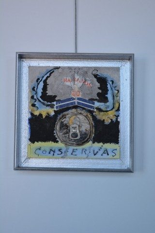 Mixed media wandobject Conservas 1997