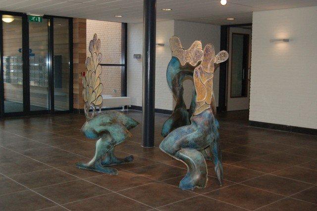 Binnenbeelden in opdracht Kransje Rijserf 2008 - messing, roestvrijstaal en acrylaat 01